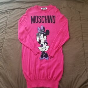 MOSCHINO [tv] H&M Pink Merino Wool Minnie Mouse